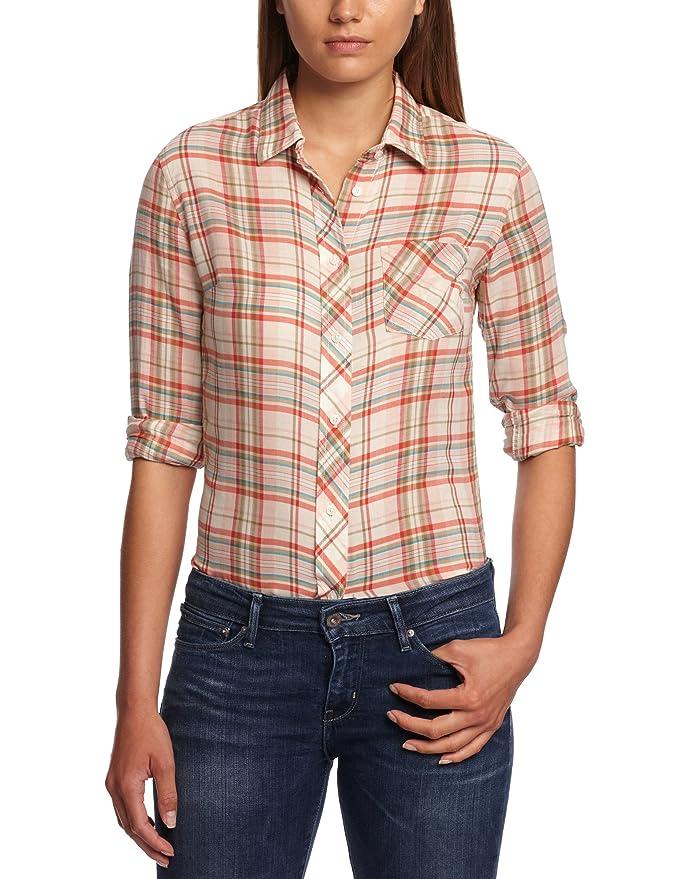 Levis 50830 - Blusa regular fit de manga larga para mujer, talla 36, color blanco 001: Amazon.es: Ropa y accesorios