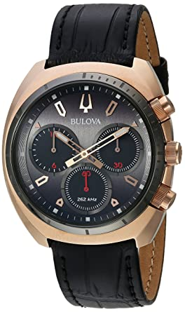 636be72be Image Unavailable. Image not available for. Color: Bulova Men's Curv  Collection Stainless Steel Analog-Quartz Watch ...