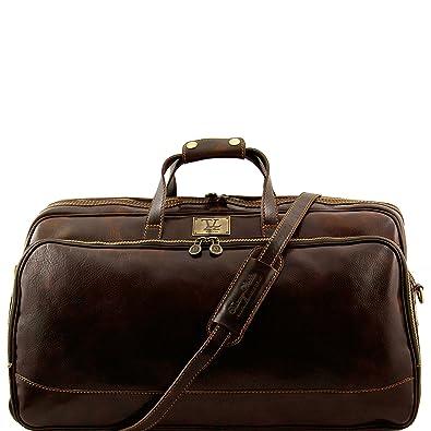 Tuscany Leather Bora Bora Sac à roulettes- Grand modèle Marron JQeST0BGg