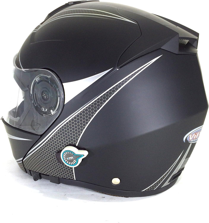 Titan XS Herkunft Helmets 204271723600002/Delta Solid Matt Klapphelm mit Integrierter Bluetooth
