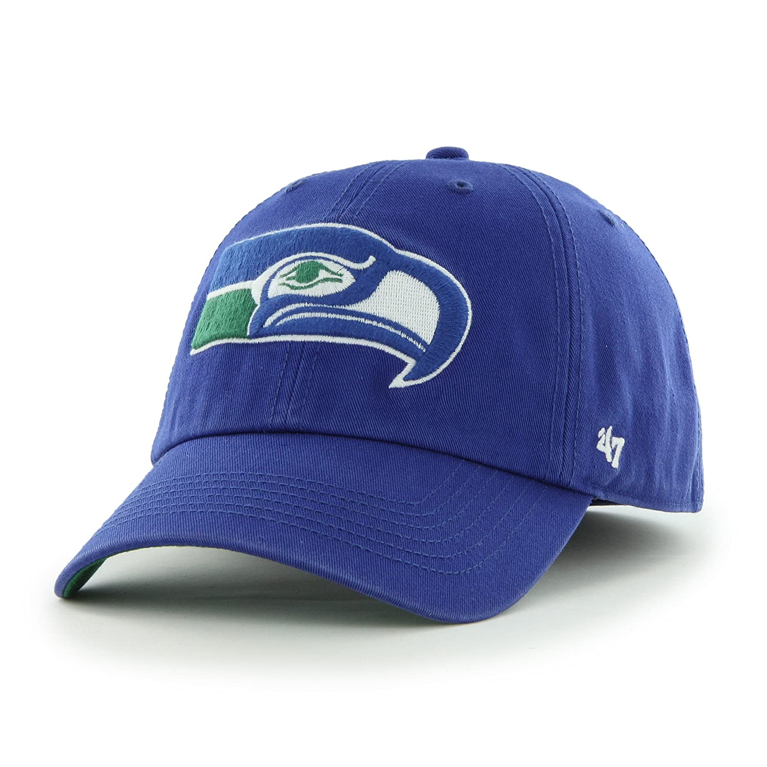 separation shoes 04807 62e97 Amazon.com    47 NFL Seattle Seahawks Brand Franchise Fitted Hat   Clothing