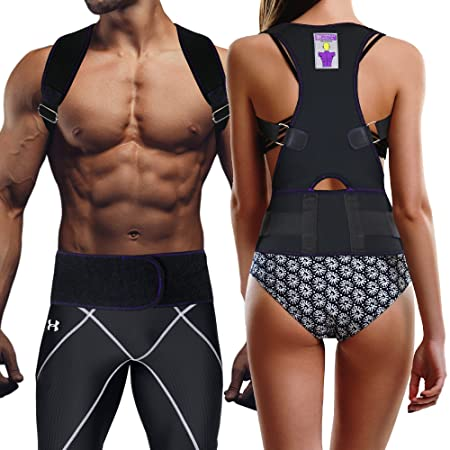 Amazon.com: Everyday Medical Posture Corrector Brace for Men and Women l Best Fitting Orthopedic Back Brace l 2-in-1 Lumbar Support   Tested on Over 35K ...