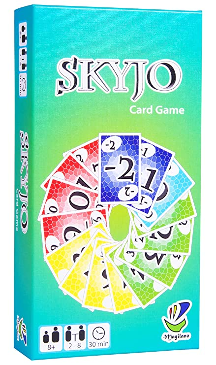 Magilano SKYJO, unterhaltsame Kartenspiel für Jung und Alt. Das ideale Geschenk für spaßige und amüsante Spieleabende im Freu