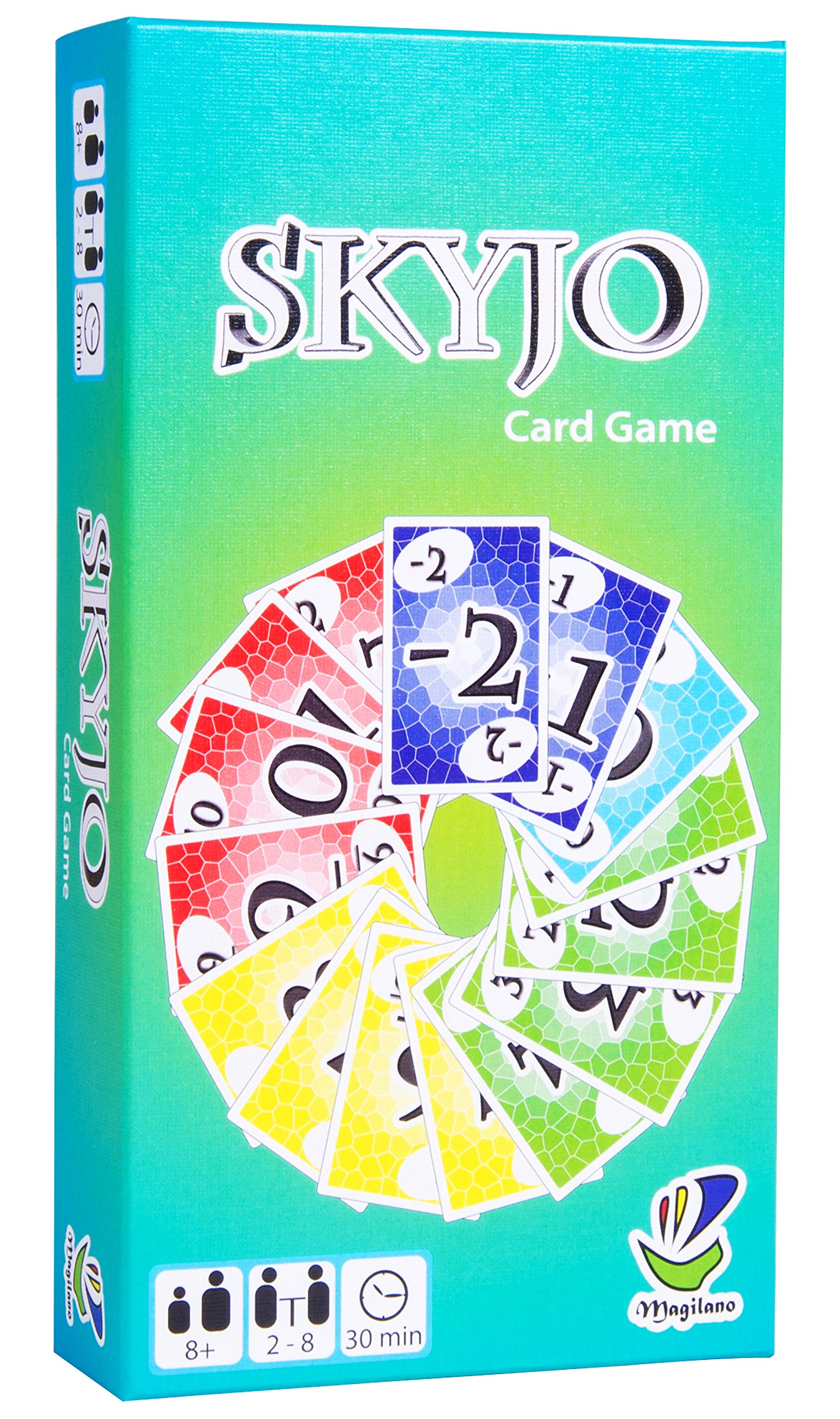Magilano SKYJO The Ultimate Card Game for Kids and Adults. The Ideal Board Game for Funny, Entertaining and exciting Playing Hours with Friends and Family.