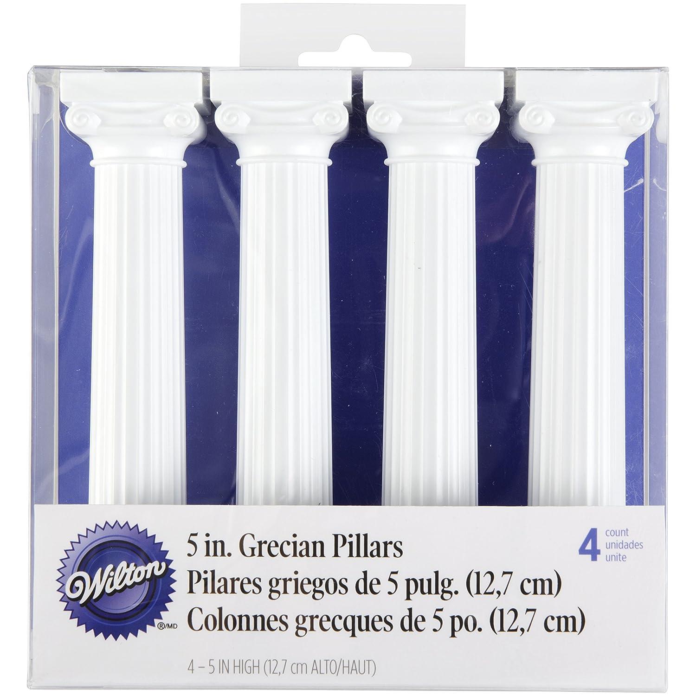 Wilton 0262305 Grecian Colonnes Plastique 5 Pouces 14, 83 x 13, 36 x 3, 78 cm 4 Pièces 303-3703