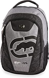 Ecko Unltd. Boys' Block Laptop & Tablet Backpack-School Bag Fits Up to 15 Inch Laptop, Black/Heather, One Size
