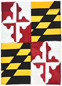 "Evergreen Flag & Garden Maryland State Garden Flag, 18"" H x 12.5"" W"