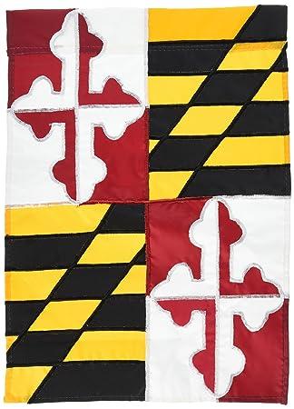 Amazoncom Evergreen Flag Garden Maryland State Garden Flag