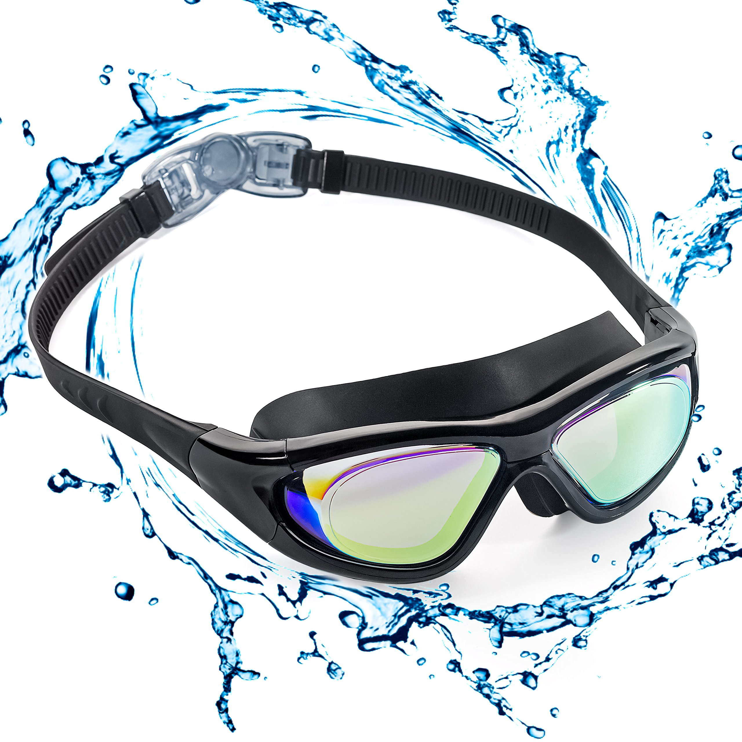 a76361a45f ZetHot Gafas De Natación De Marco Amplio, Gafas para Nadar Gafas De  Natación Antigoteo,