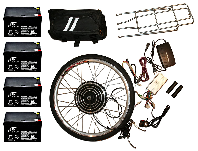 rear hub motor electric bicycle conversion kits Obller 36/V 48/V e-bike 26 in/front