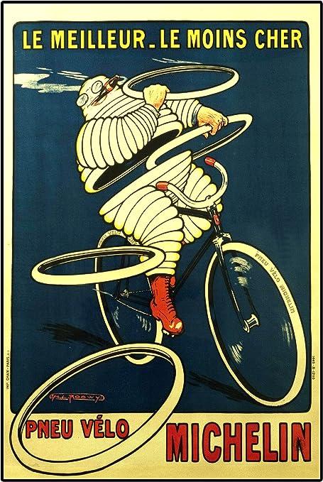 Michelin neumáticos 1, A3 laminado Póster, vintage, fotografía, ciclos, bicicletas, moda, imagen, imagen, negro y blanco, foto, Old, retro, impresión, Oldschool,: Amazon.es: Hogar