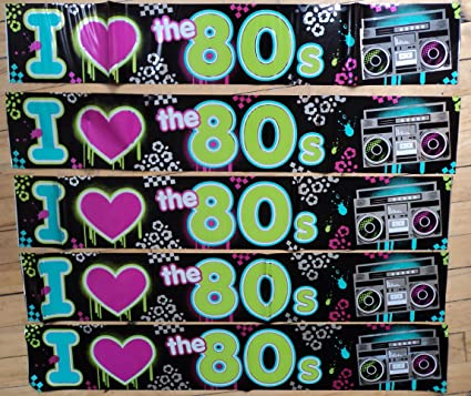Image of 80s Party Decoration - I Love 80s Banner - 7.6 metres long! by 80s Material Girl