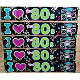 80s Party Decoration - I Love 80s Banner - 7.6 metres long!