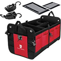 $41 » Trunkcratepro Collapsible Portable Multi Compartments Trunk Organizer, Red