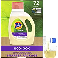 Tide Purclean, Plant Based Laundry Detergent Liquid Eco-Box, (Laundry Soap), Concentrated, Honey Lavender, HE Compatible…