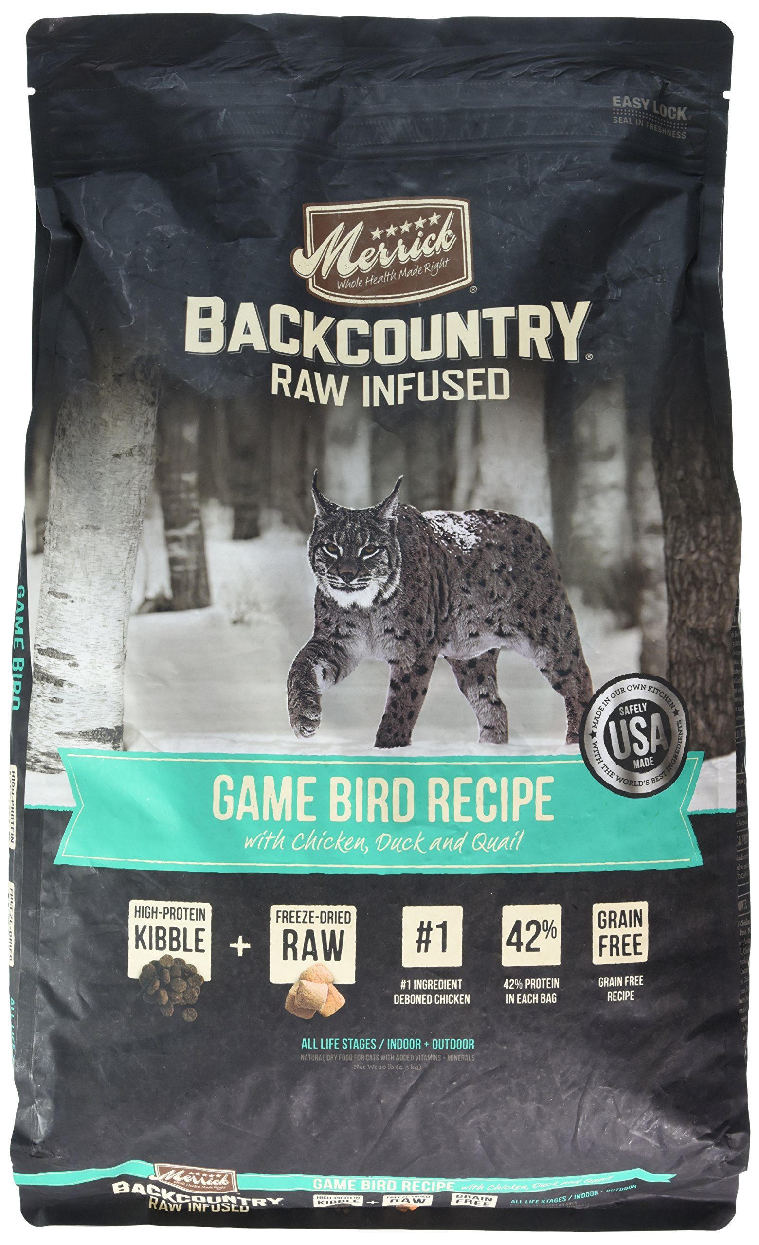 Merrick backcountry grain free raw infused game bird recipe dry cat merrick backcountry grain free raw infused game bird recipe dry cat food 10 lb forumfinder Choice Image