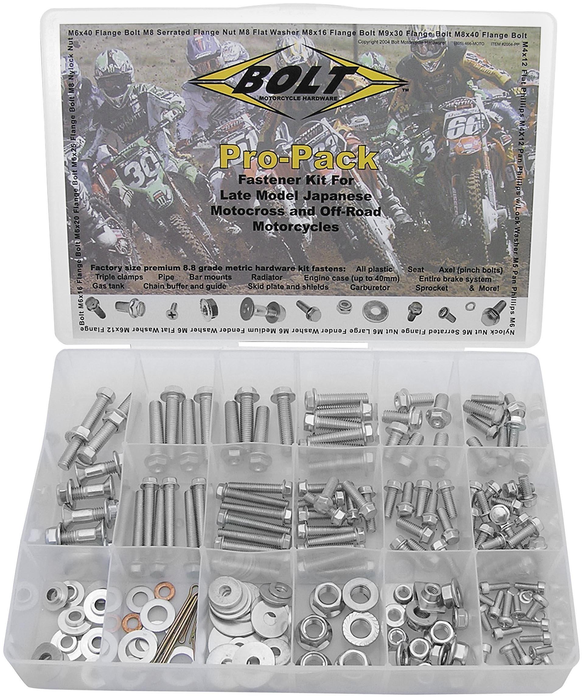 BOLT MOTORCYCLE HARDWARE KIT/PRO-PACK-JAPANESE 2004-PP