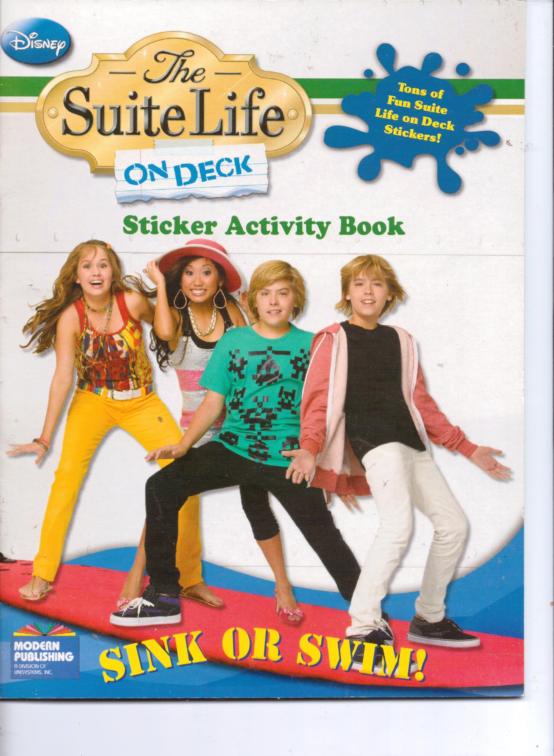 Disney The Suite Life on Deck Sink or Swim Sticker Activity