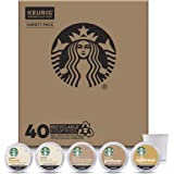 Starbucks Flavored K-Cup Coffee Pods — Variety Pack for Keurig Brewers — 1 Box (40 Pods)