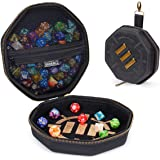 ENHANCE Tabletop Dice Case and Dice Rolling Tray - DND Dice Tray and Storage Holder for up to 150 D&D Dice with Rugged Exteri