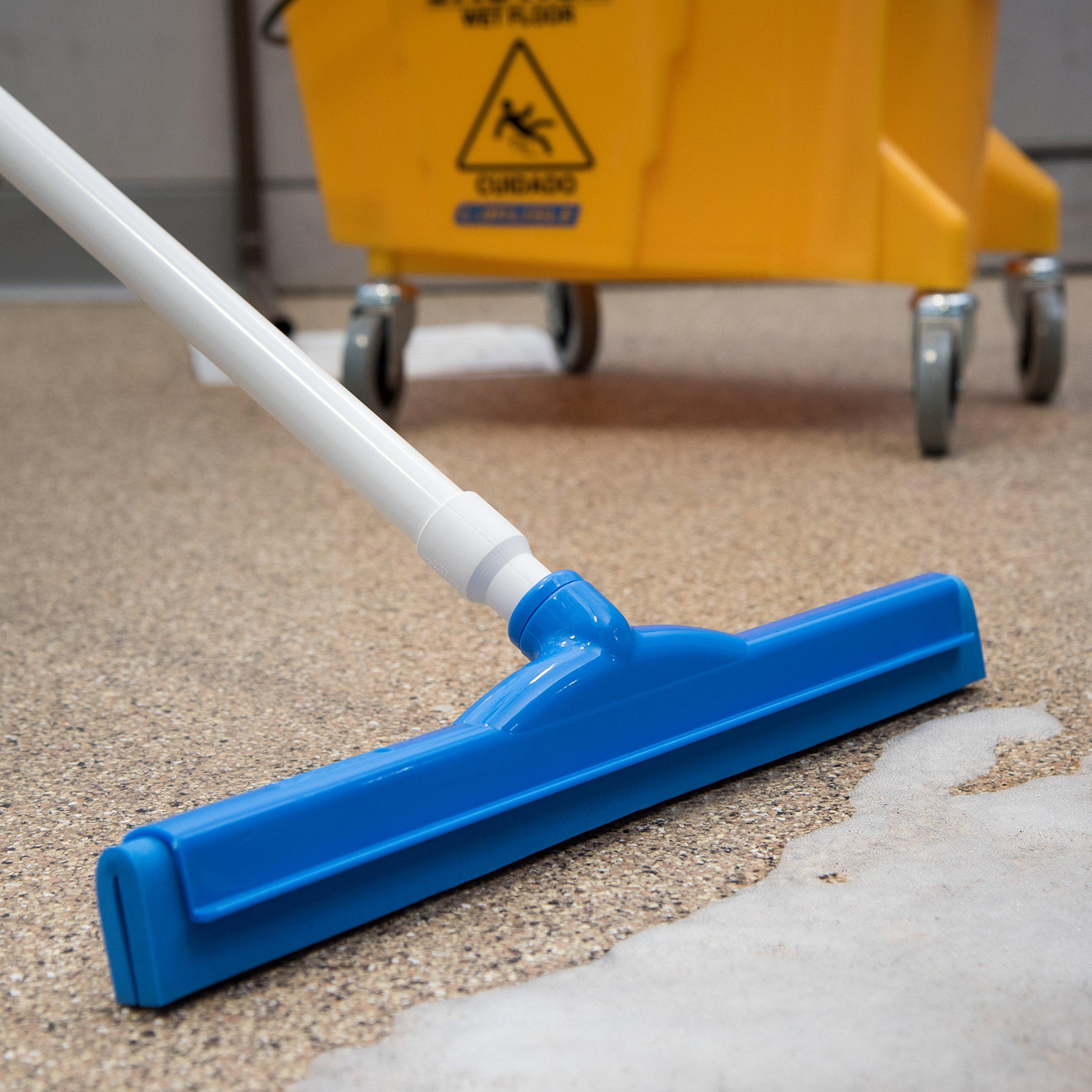 Carlisle 4156714 Spectrum Plastic Double Foam Rubber Hygienic Floor Squeegee, 18'' Width, Blue (Case of 6) by Carlisle (Image #5)