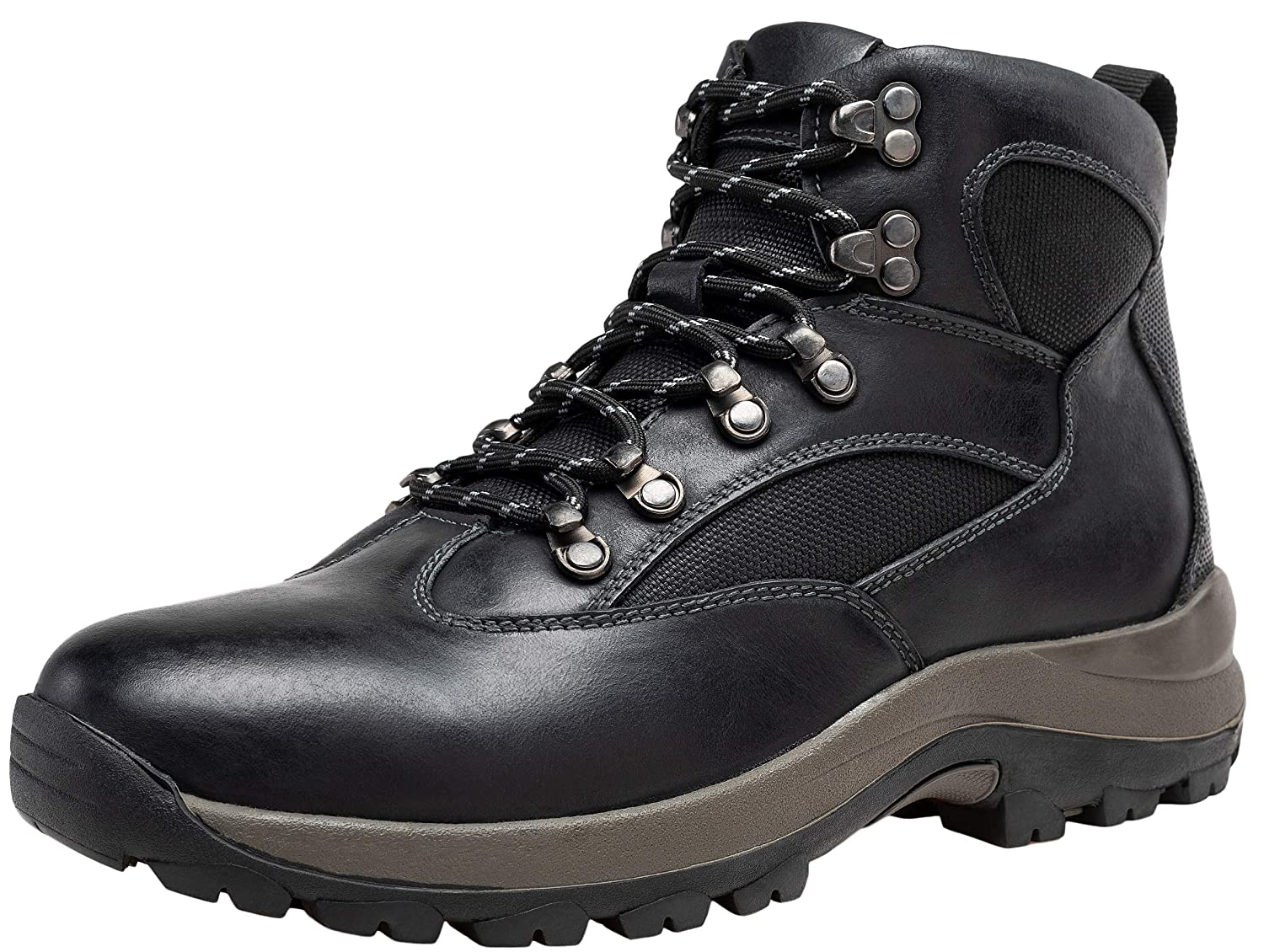 JOUSEN Mens Hiking Boot Leather Work Boots for Men Waterproof Hiking Boot
