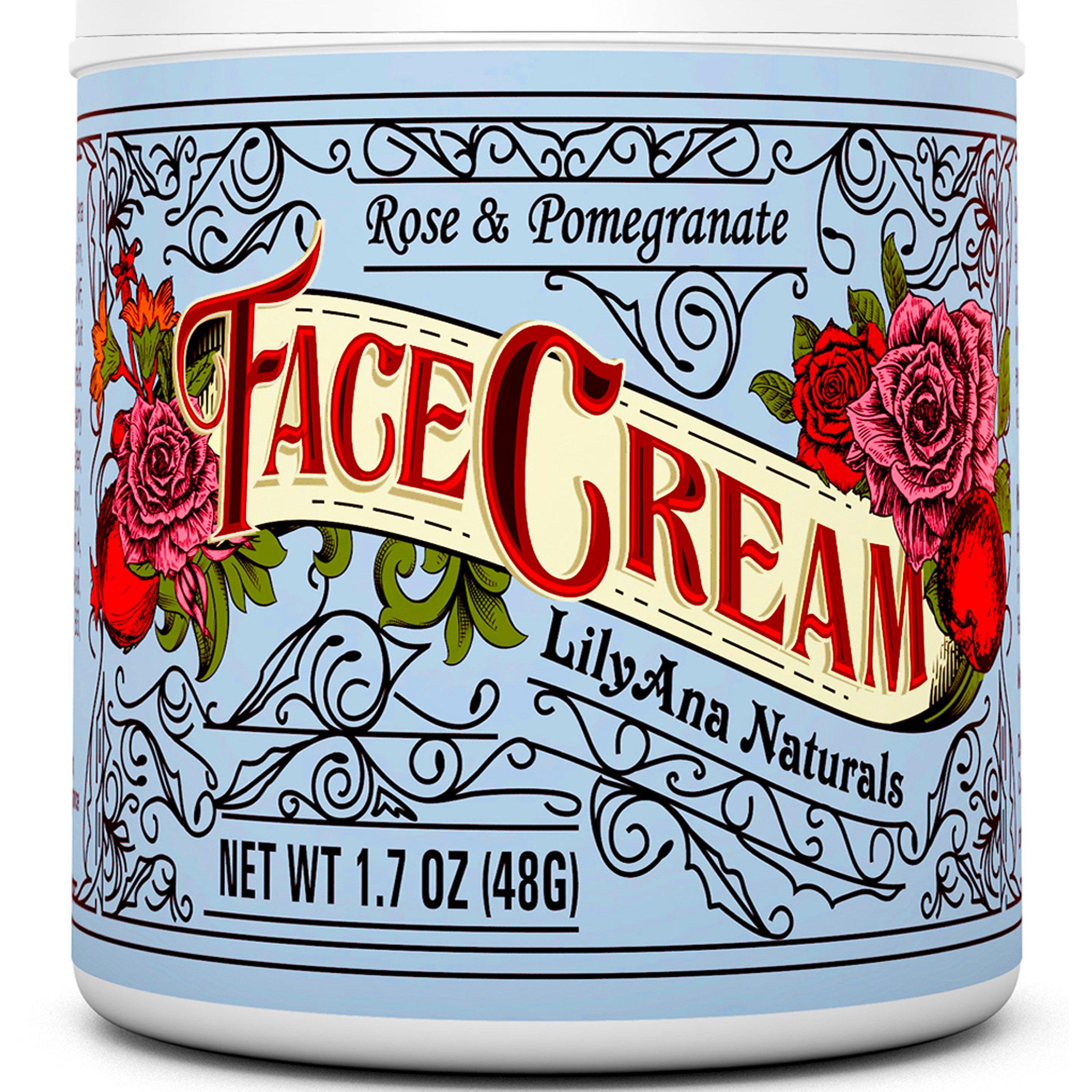 Face Cream Moisturizer (1.7 OZ) Natural Anti Aging Skin Care by LilyAna Naturals