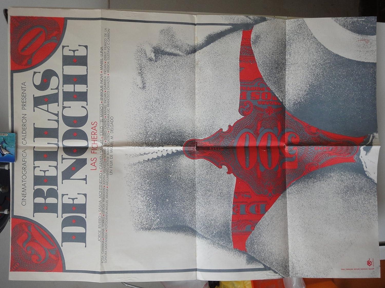 Original Mexican Movie Poster Bellas De Noche Las Ficheras Sasha