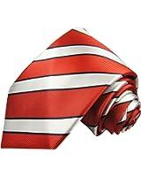 Rouge argent cravate rayé, 100% cravate en soie ( longueur 165cm )
