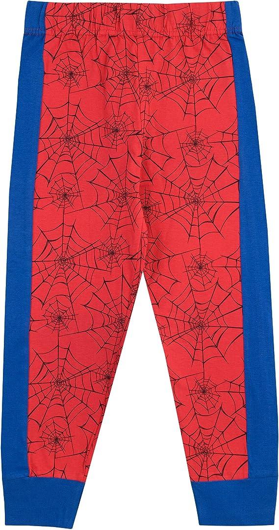 Marvel Spiderman Pigiama Bambino Avengers Full Length Pjs Super Hero Nightwear