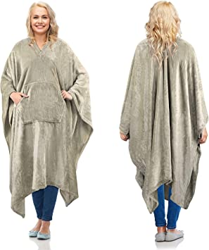 321DESIGN Just A Girl Who Loves Horses Wearable Blanket/ Fleece Hooded Robe Cloak Throw Quilt Poncho Microfiber Sherpa Plush Warm Wrap Multiple-Size Teen 60x50in