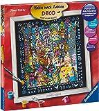 Ravensburger 29010 James Rizzi - Cuadro para colorear con números (30 x 30 cm)