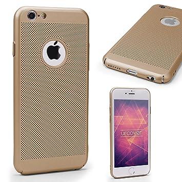 Urcover® Funda Apple iPhone 6/6s Carcasa Ultrafina Malla Champaña Oro Case Móvil Smartphone