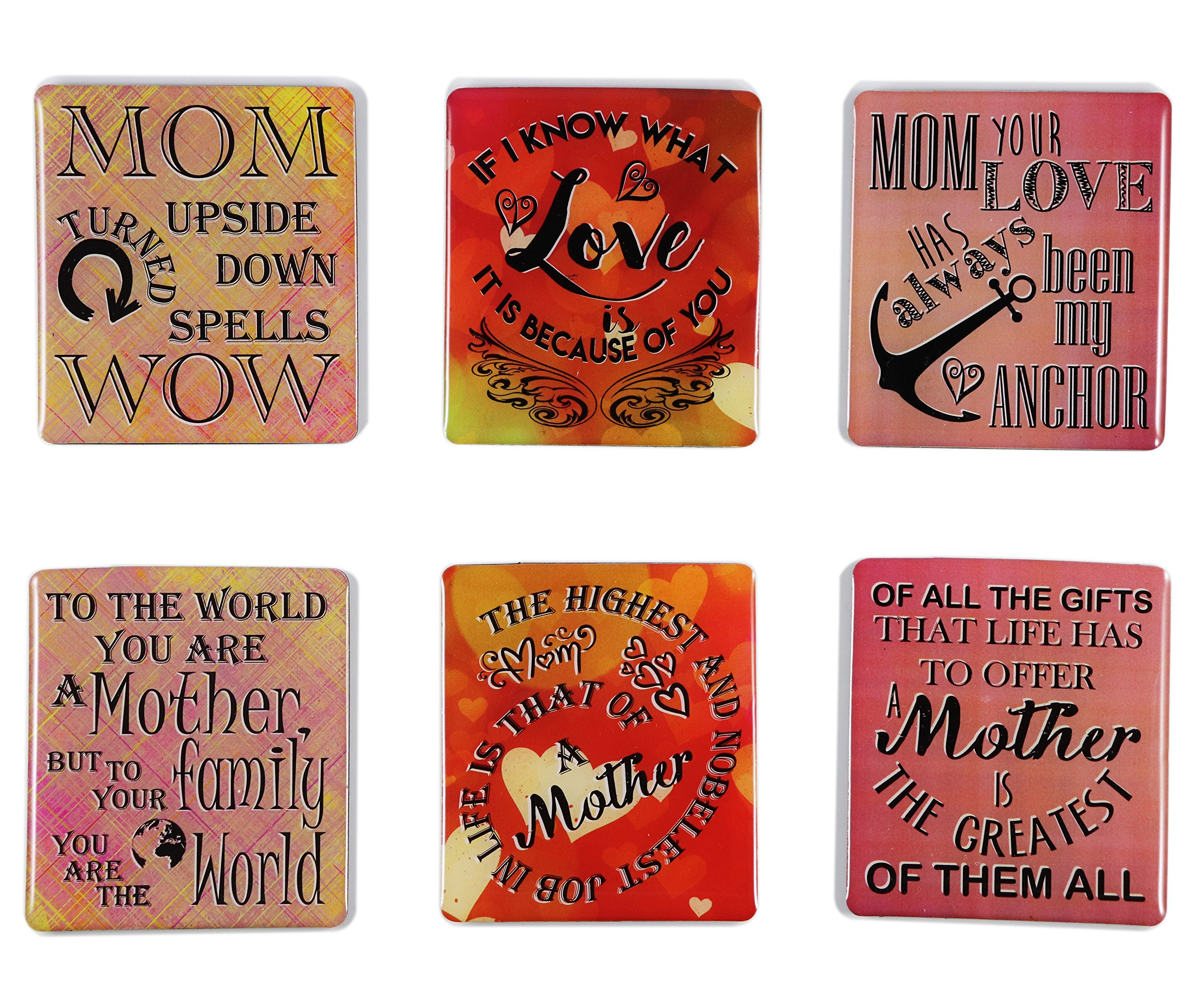 Gift for Mom 12 Piece Magnetic Picture Frames and Refrigerator Magnets with Inspirational Quotes Photo Collage by Sheen 5x7 4x6 3.5x5 2.5x3 Wallet - Mom Gifts - Gift for Mother - Birthday Gift for Mom by Sheen (Image #3)