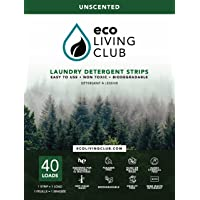 Eco Living Club Laundry Detergent Strips Hypoallergenic, Eco-Friendly, Biodegradable, Plastic Free, Paraben and Cruelty…
