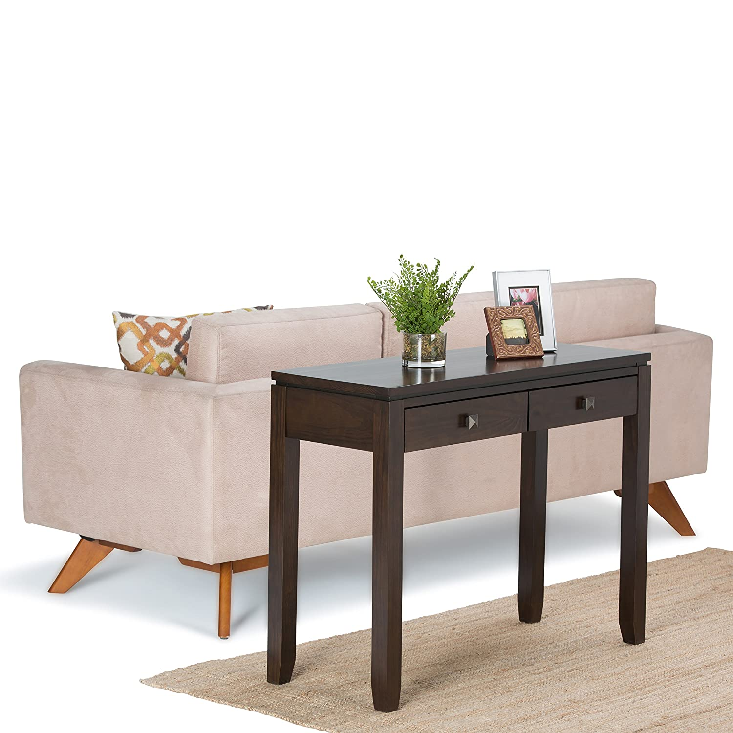 Amazon Simpli Home Cosmopolitan Console Sofa Table Coffee