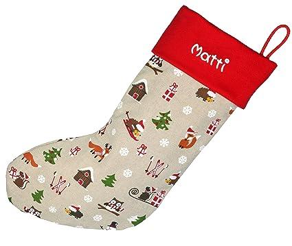 Papá Noel botas de arroz rojo, 40 x 17 cm Grande, calcetines de Papá