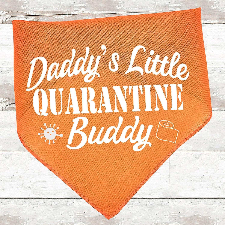Funny Coronavirus Dog Bandana COVID-19 Daddys Little Quarantine Buddy Dog Scarf COVID 19