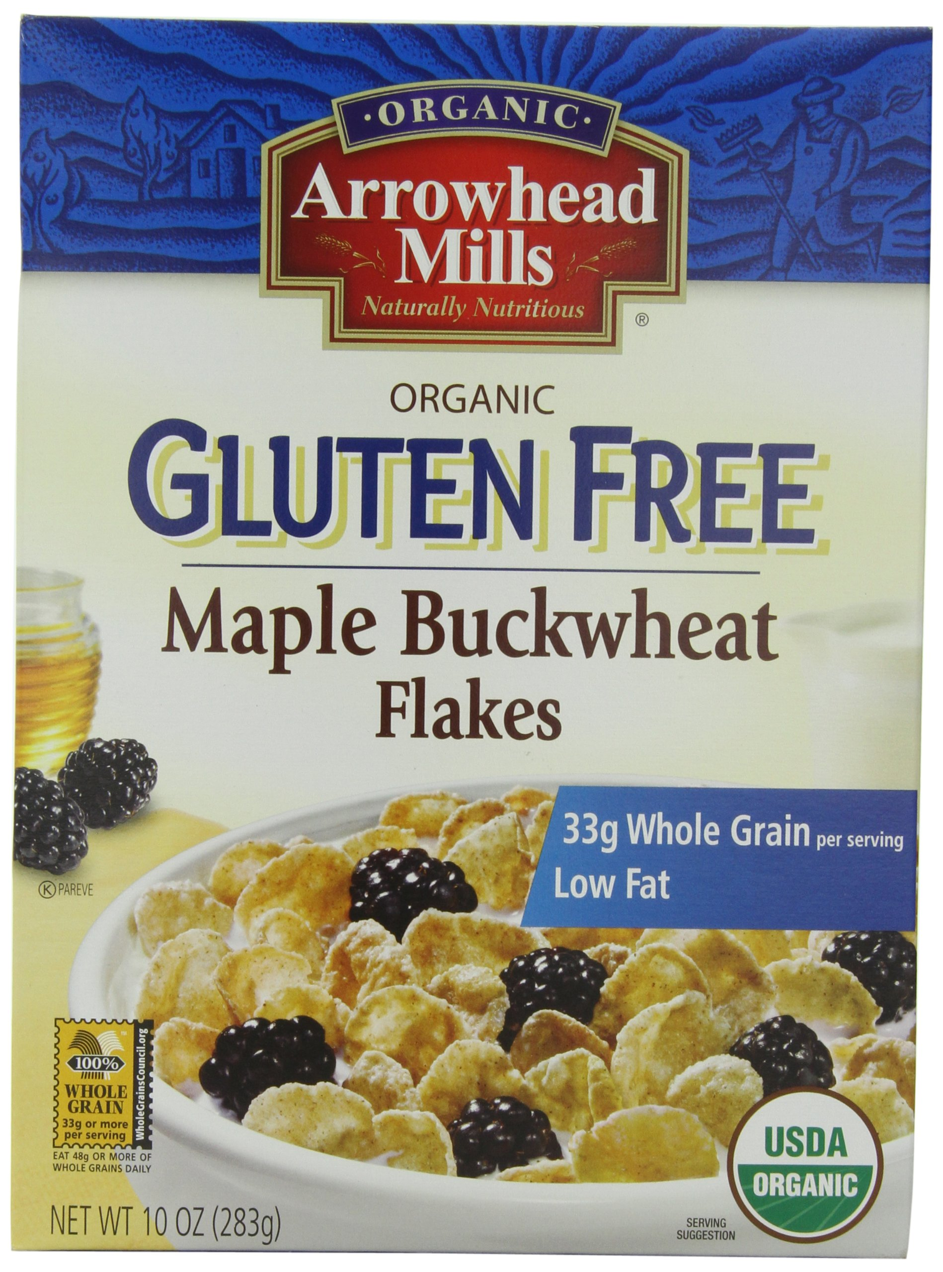 Arrowhead Mills Gluten Free Cereal, Organic Maple Buckwheat Flakes, 10 Ounce (Pack of 12) by Arrowhead Mills