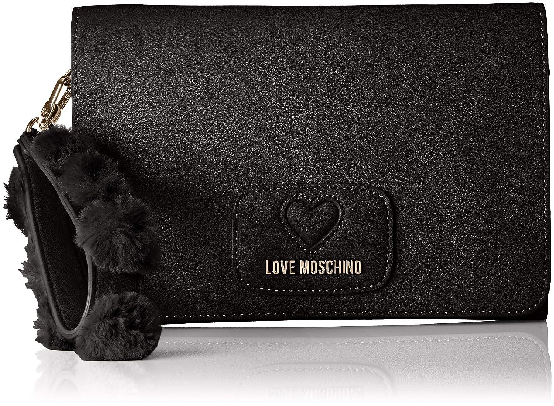 Love Moschino - Borsa Pu+poliestere, Borse a secchiello Donna Marrone (Cammello) 10x13x17 cm (B x H T) JC4283PP06KL0