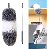 BOOMJOY Extendable Microfiber Duster, Telescoping Stainless Steel Pole, Detachable Bendable Head, Washable, 96.5""