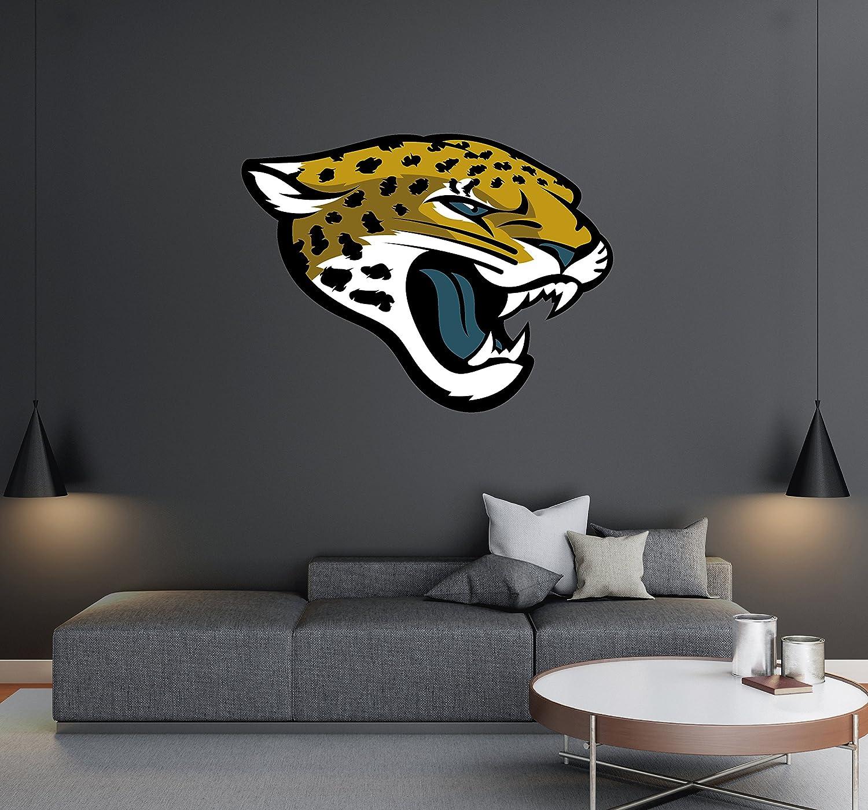 Yellow FATHEAD NFL Jacksonville Jaguars Logo Decal