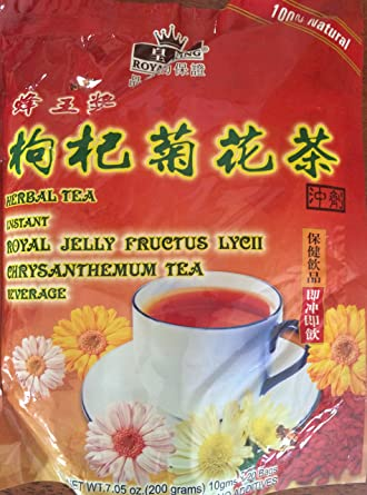 Amazon Com Instant Royal Jelly Fructus Lycii Goji Berry Chrysanthemum Tea 10gx20bags Grocery Gourmet Food