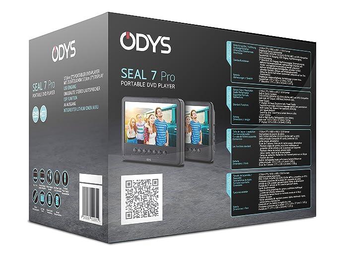 Odys Seal 7 tragbarer DVD-Player mit zusätzlichem Bildschirm (17,8 ...