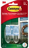 Command Outdoor Window Hooks, Medium, Clear, 2-Hooks (17091CLR-AWES)