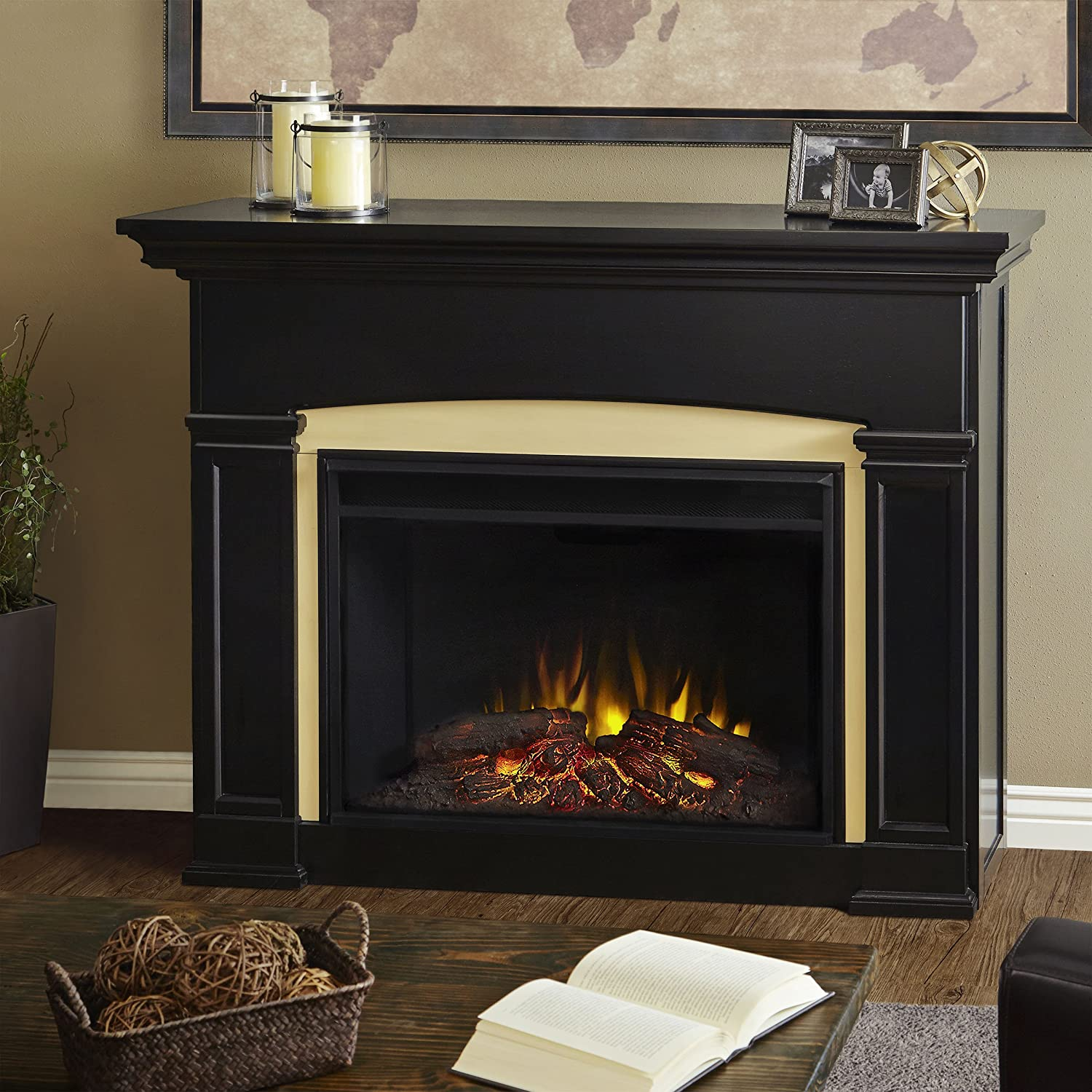 Amazon Com Real Flame 7660e Bk Holbrook Grand Electric Fireplace