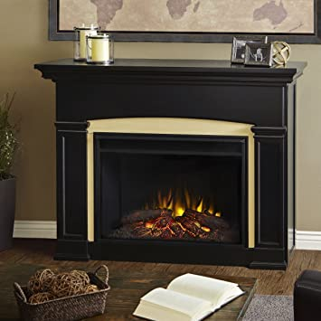 Genial Real Flame 7660E BK Holbrook Grand Electric Fireplace,Black,Large