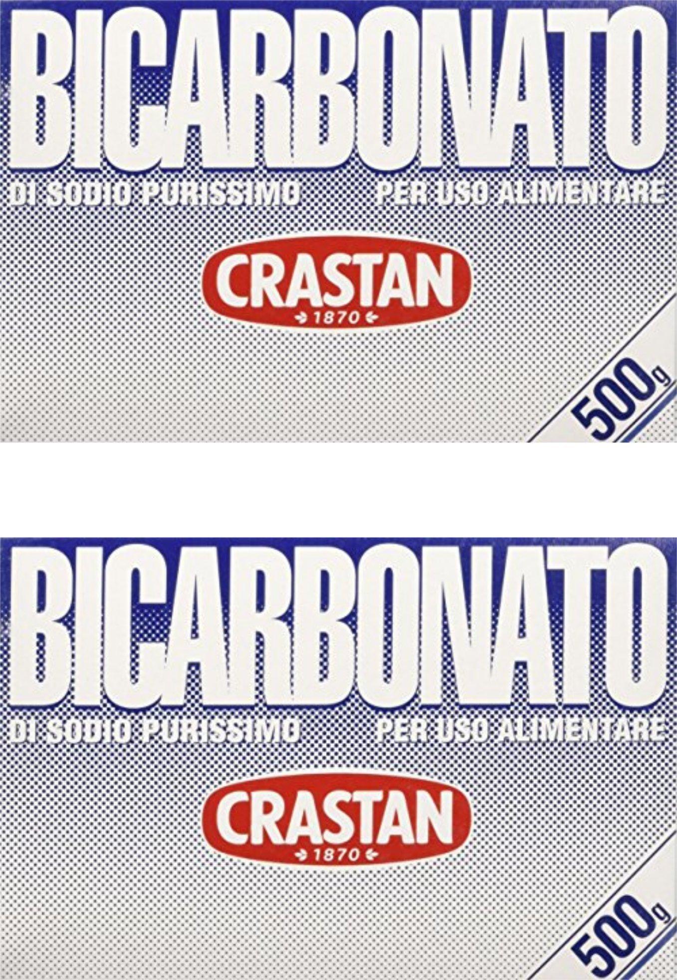 Crastan: '' Bicarbonato di Sodio Purissimo '' Baking Soda - 17.6 oz ( 500g ) Pack of 2