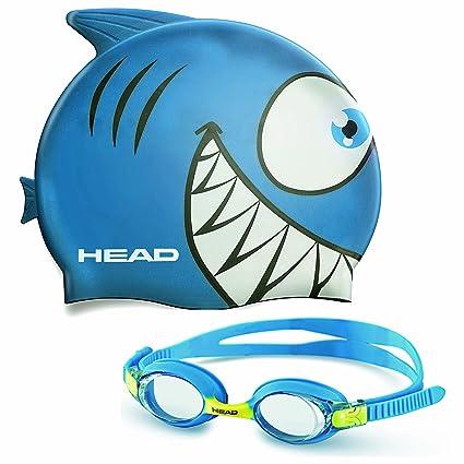 3451d95d3b68 HEAD Kid's Swim Cap and Goggle Set