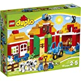 LEGO DUPLO Ville Big Farm 10525, Preschool, Pre-Kindergarten Large Building Block Toys for Toddlers